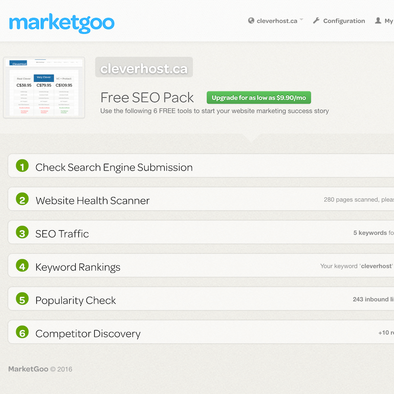 Marketgoo interface